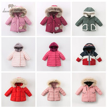Padded-Coat Outerwear Down-Jacket Baby Dave Bella Winter Kids Children Hooded 90%White-Duck-Down