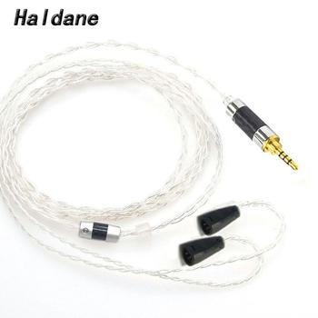 Haldane HIFI 2.5/3.5/4.4mm Balanced 4 Cores Silver Plated Headphone Upgrade Cable for IE8 IE8i IE80 IE80s Headphones