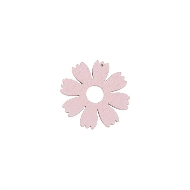 Nuevo diseño vacaciones viento dulce madera colgantes pendientes pintura flor gota pendientes para mujer chica material DIY accesorios de joyería