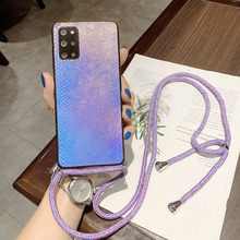 Strap Cord Chain Phone Case For OPPO Find X3 Lite Reno 5 Pro 2Z 4Z 4 Realme 7 X7 X50 A5 A9 2020 A72 Necklace Lanyard Snake Cover