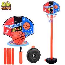 купить Children Basketball Playing Set Outdoor Sport Adjustable Stand Basket Holder Hoop Goal Game Mini Indoor Kids Yard Game Boy Toys по цене 564.04 рублей