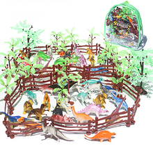 Children's Simulation Mini Dinosaurios Model Set  Jurassic Dinosaur World Model Toy Children's Educational Toys For Children 68pcs set simulation zoo plastic mini animal model toys for children dinosaurs tiger horse diy educational toys