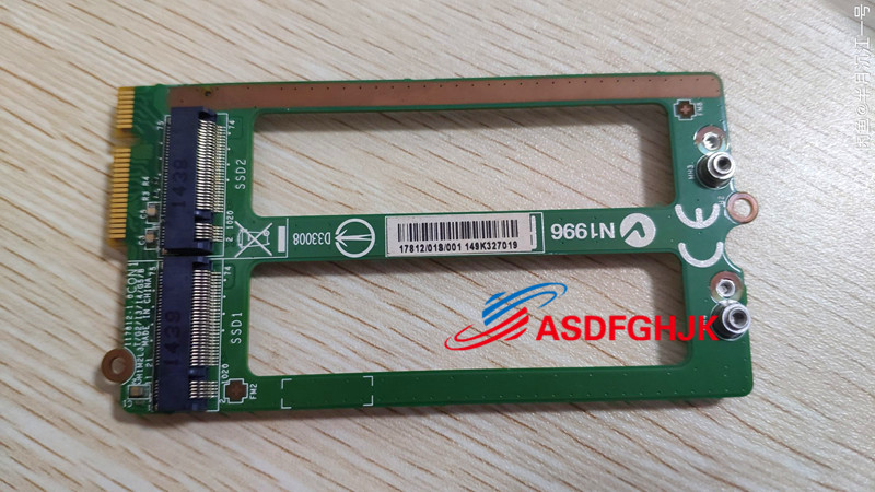 Original Ms-17812 Ver 1.0 For Msi Gt72 Laptop Hdd SSD Board  Test OK