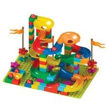 цены на 80psc Marble Race Run Maze Ball Jungle Adventure Track Building Block Big Size Bricks Compatible LegoINGly Duplo Block Toy Gift  в интернет-магазинах