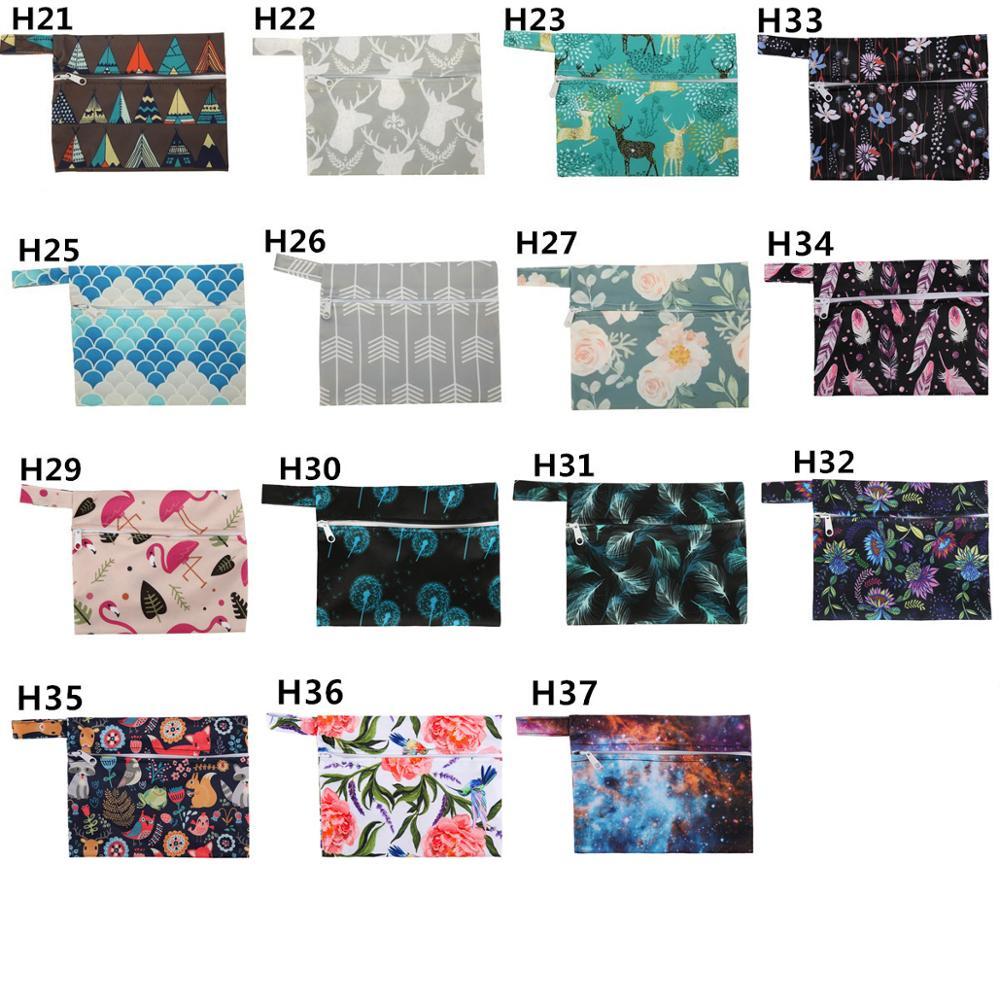 Mini Double Zip Wet Bag for cloth wipes breast pads mumma cloth Denim