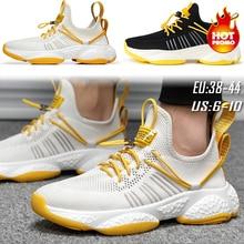 2019 yeni örgü erkekler rahat ayakkabılar Lac up erkek ayakkabısı rahat nefes hafif spor ayakkabı yürüyüş Tenis Feminino Zapatos