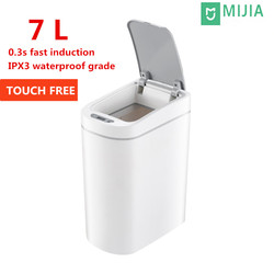Mijia LED Smart Trash Can Automatic Touchless Intelligent induction Motion Sensor Kitchen Trash Can 7L Ashcan Bins