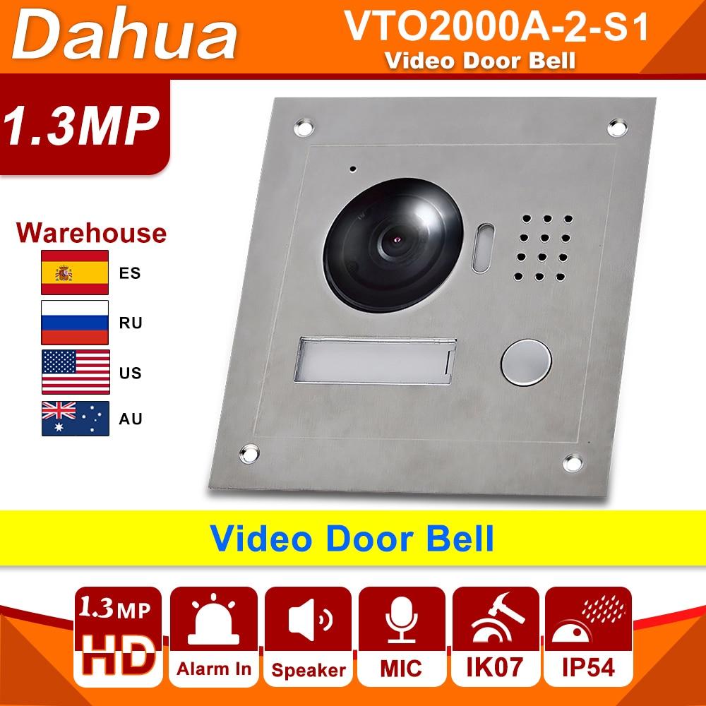 Dahua-timbre de puerta de vídeo, VTO2000A-2-S1 POE, Metal, IP, estación exterior, videoportero, visión nocturna