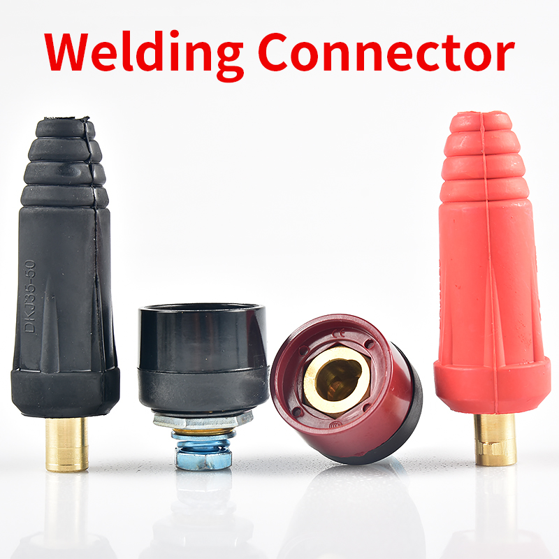 Europe Welding Machine Quick Fitting Female Male Cable Connector Clamp Socket Plug Adaptor Tig Inverter Welding Machine Tools