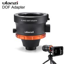 Ulanzi dof smartphone moldura completa adaptador de lente da câmera com caso do telefone ef montagem lente slr dslr câmera lente adaptador