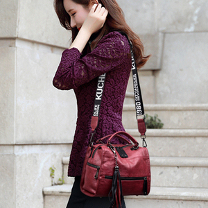 Image 2 - Chaud Vintage cuir glands de luxe sacs à main femmes sacs concepteur sacs à main de haute qualité dames main sacs à bandoulière pour les femmes 2020