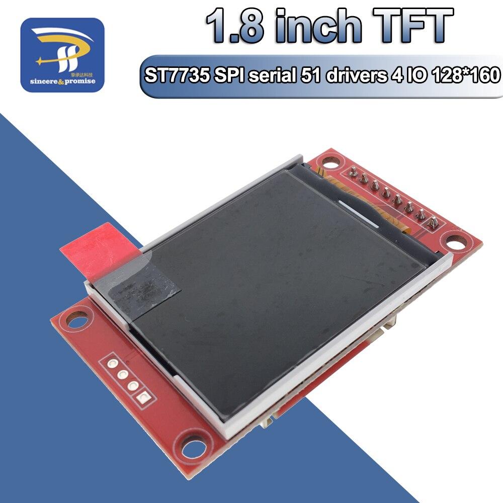 1.8 calowy moduł TFT LCD moduł ekranu LCD ST7735 SPI serial 51 sterowniki 4 sterownik IO rozdzielczość TFT 128*160 dla Arduino