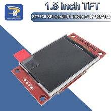 1.8 polegadas tft lcd módulo de tela lcd st7735 spi série 51 drivers 4 io driver tft resolução 128*160 para arduino
