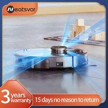 Ordensvor x600 pro robot vacuum cleaner 6000pa poweful sucção 5200ma carga automática vácuo de navegação a laser desenhar área limpeza