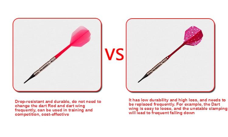 3pcsplastic professional dart flights 2ba screw soft durable darts ta FL