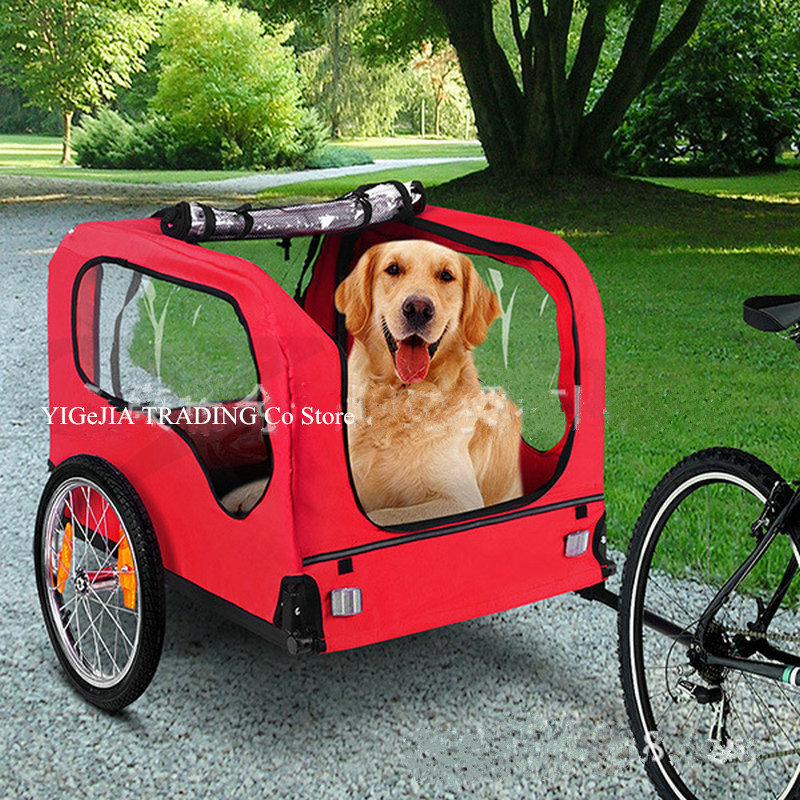 Pet Bicycle Trailer For Dogs And Cats, Dog Bike Trailer Stroller, Dog Carrier For Outdoor Traveling Jogging Cycling