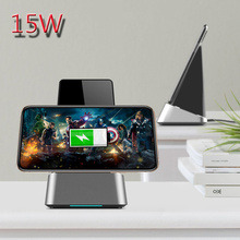 15W Fast Wireless Charging for Iphone 11 Pro XS Max Desktop Stand Huawei Mate 30 Samsung Note10 S9 Xiaomi LG Nokia