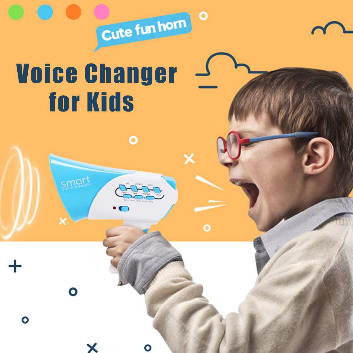 For Children Kids Loudspeaker Educational Toys Mini Voice Changer DIY Voice-changing Megaphone Baby Toy Gift