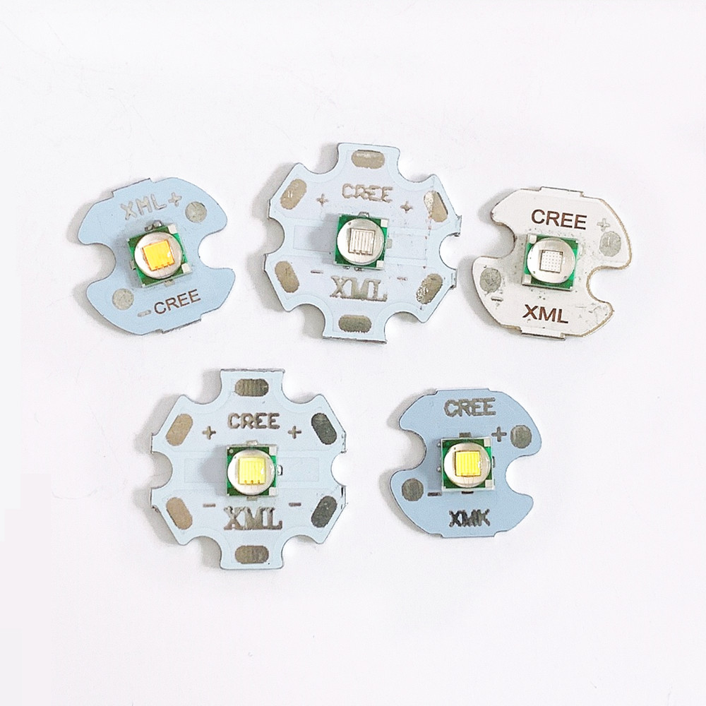 2pcs <font><b>CREE</b></font> XML T6 <font><b>LED</b></font> <font><b>5W</b></font> High Power <font><b>LED</b></font> Chip on 16mm 20mm PCB Warm White Cool White Blue image