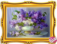 5d Diamond Mosaic Flowers Beautiful Dream Houses Dimond Painting crystal round  Kits Embroidery Lilac 45x35