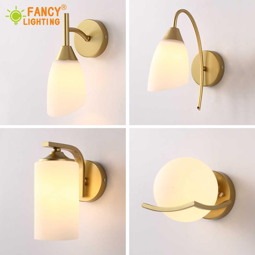 (אור מקור עבור משלוח) מודרני קיר מנורת מדרגות Led קיר אורות לבית אמבטיה/חדר שינה אור זכוכית/בד צל פמוט קיר
