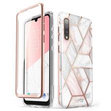 Für Samsung Galaxy A50/A50s Fall (2019) ich Blason Cosmo Volle Körper Glitter Marmor Stoßstange Fall mit Integrierten Bildschirm Protector