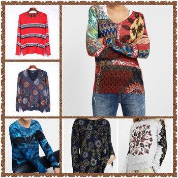 2020 Deg Spain Various Styles Long Sleeve Elastic Single-Collar Knitted Sweaters S-XXL 1