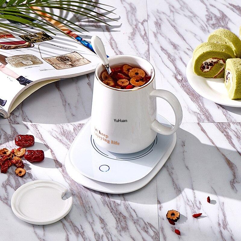 55 градусов, чашка с постоянной температурой, грелка, подушечка для молока, офисный нагрев, чашка для здоровья, креативный подарок, подогрева...