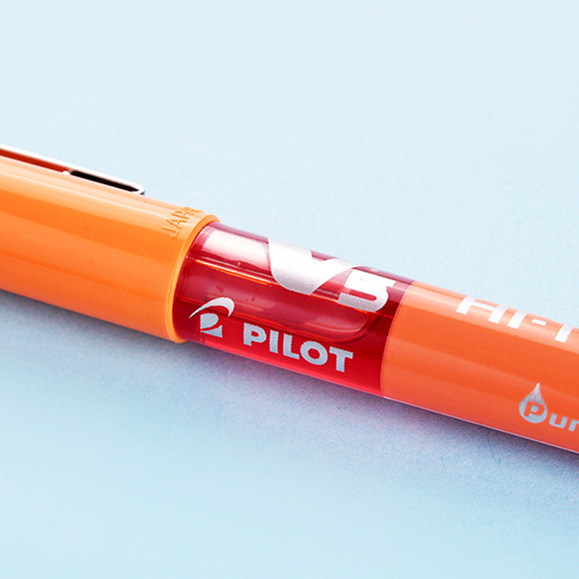 PILOT V5 Full Needle Straight Liquid Ball Pen BX-V5 0.5mm Gel Pen Exam Pen Multicolor Writing Smooth and Smooth Large Capacity 3