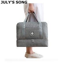 JULY'S SONG sac de voyage étanche grande capacité multifonctionnel sec humide séparation stockage sac à main sac voyage sac de sport
