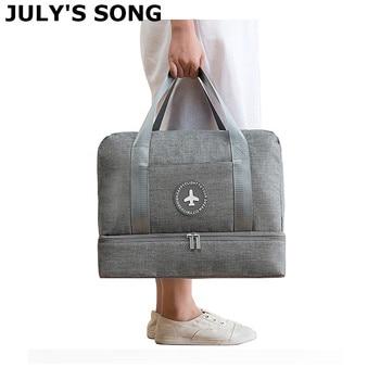 JULY'S SONG Travel Bag Waterproof Large Capacity Multifunctional Dry Wet Separation Storage Handbag Duffle - discount item  30% OFF Travel Bags