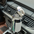 Новое поступление автомобильная портативная сигарета пепельница Бездымная автомобильная пепельница из углеродного волокна со светодиодн...