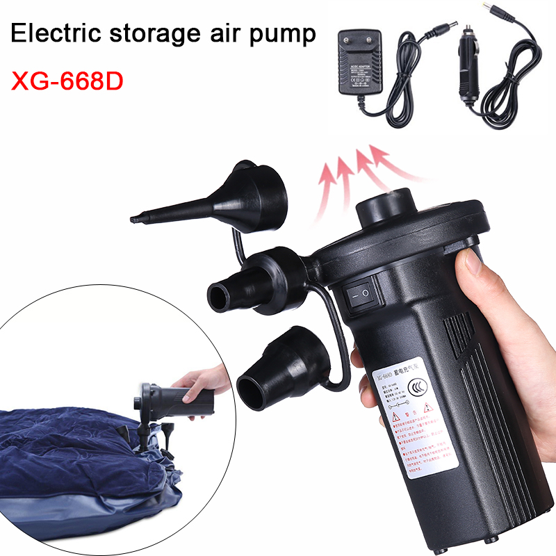 Rechargeable Electric Air Pump Electric Air Mattress Camping Pump Portable Quick Filling Inflatable Pump For Car Home Use