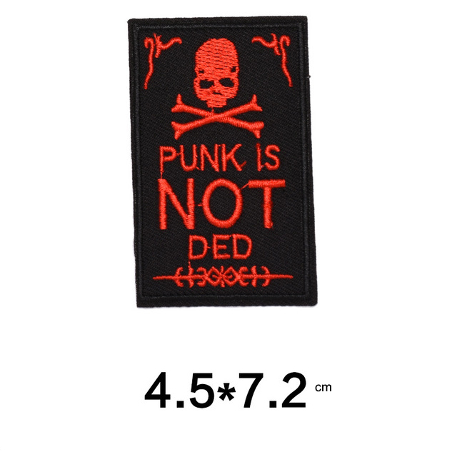 Skull Embroidered Patches For Jacket DIY Clothes Badges
