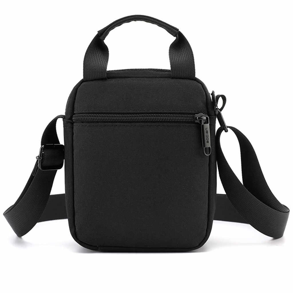 ファッションクロスボディのソリッドカラーの屋外スポーツ旅行メッセンジャーバッグ小正方形のパッケージビジネスバッグ Мужская Сумка #20