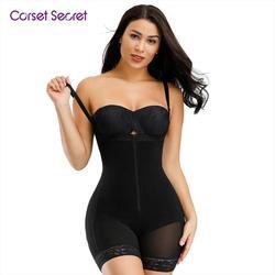 Corsé secreto para mujer Body shaper Control de barriga ropa interior correas ajustables Shapewear entrepierna cremallera diseño Bodysuit mujeres corsé