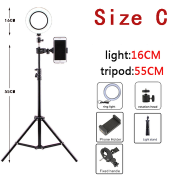 10 Inch Led Ring Light with Tripod Rim Ringlight Selfie Photo Round Ring Lamp Right Light for Smartphone Photography Shooting 7