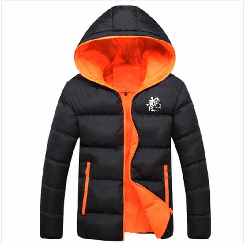 2019 Mannen Casual Hooded Parka mode Gedrukt Winter Mannen Mode Patchwork Katoen Slim Fit Jas Dikke Warme Homme'sZipper Jas
