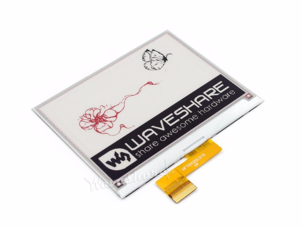 4.2 pouces e-ink Raw Display, 400x300, 4.2 'e-paper, trois couleurs d'affichage: rouge, noir, blanc. interface SPI, pas de PCB. Pas de rétro-éclairage
