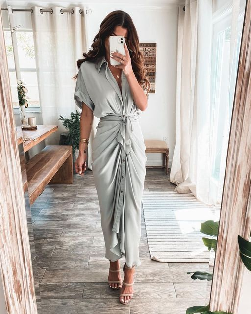 2021 Satin Lace Up Summer Women Bodycon Long Midi Vintage Backless Elegant Party Outfits Sexy Club Clothes Vestido Dress Robe 2