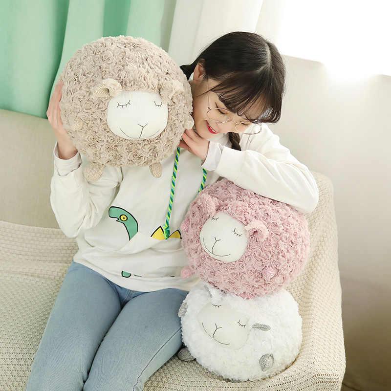 Nowy Kawaii owca jagnięca pluszowa zabawka pluszaki poduszka dla lalki dziecko dzieci dzieci dziewczyna dziewczyna prezent urodzinowy dekoracja do domu i do sypialni