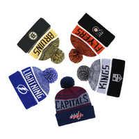 Ice drużyna hokejowa czapka z dzianiny mężczyźni i kobiety ciepła czapka sportowa czapka zimowa z dzianiny kapelusz narodowy hokej na lodzie