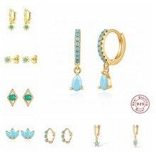 Boucles d'oreilles coréennes en argent Sterling 925, bijoux pour femmes et filles, bijoux minimalistes, style bohème