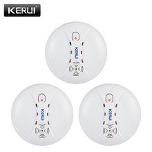 Беспроводной детектор дыма kerui 3 шт/лот для домашней кухни
