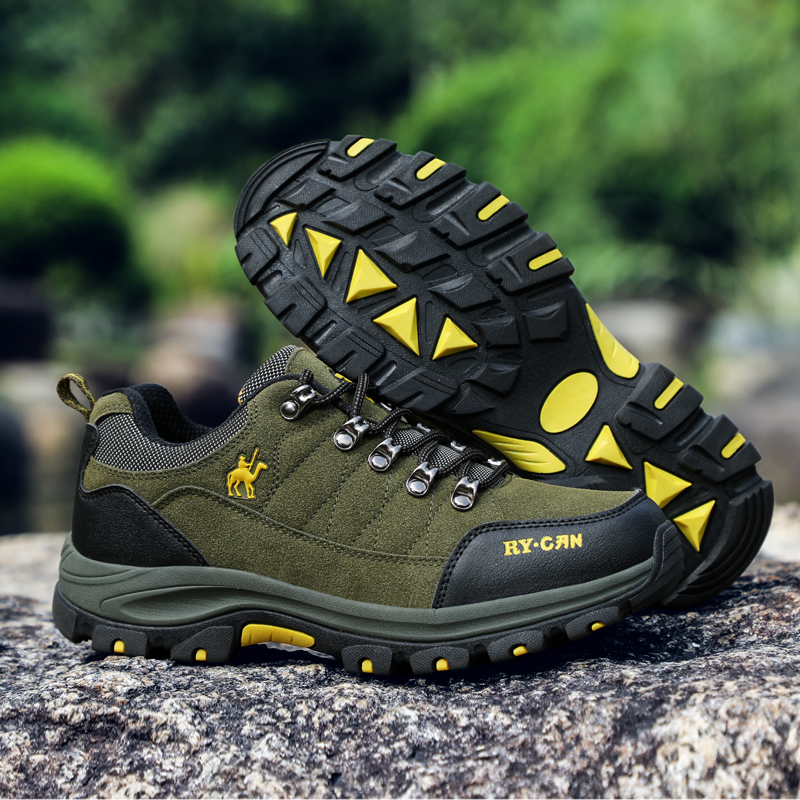 Brand Outdoor Hiking Shoes For Men Waterproof Anti-skid Trekking Shoes Mens Tourism Camping Sports Hunting Shoes Leather Boots