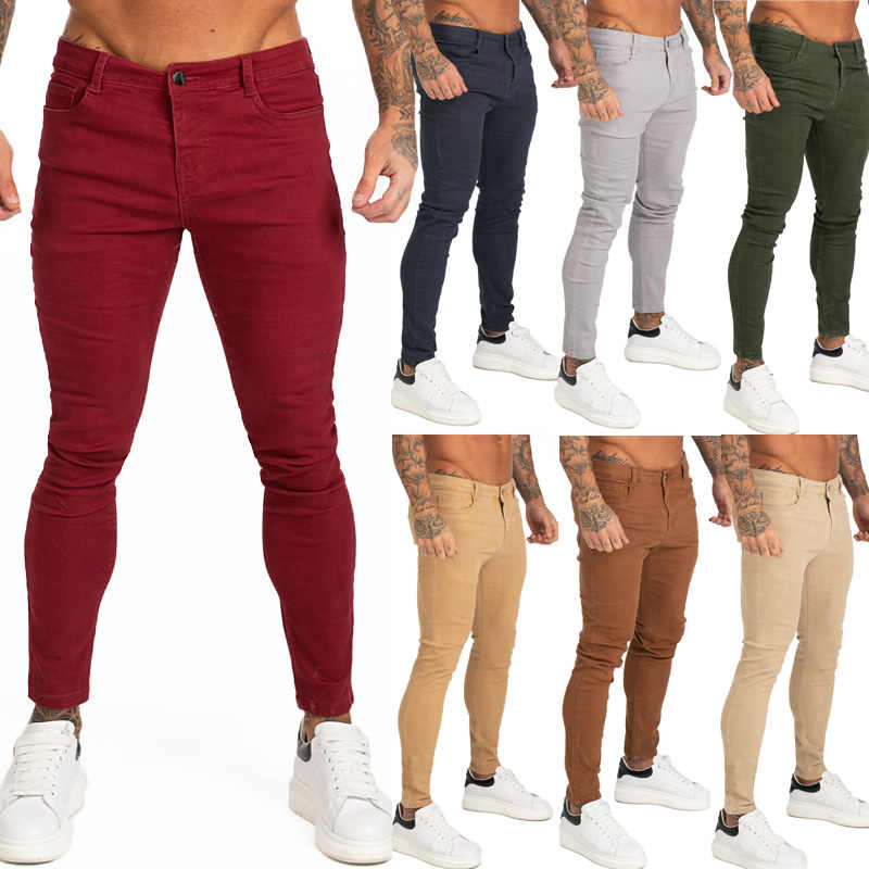 Gingtto Blue Jeans Slim Fit Super Skinny Jeans For Men Street Wear Hio Hop Ankle Tight Cut Closely To Body Big Size Stretch Zm05 Jeans Aliexpress
