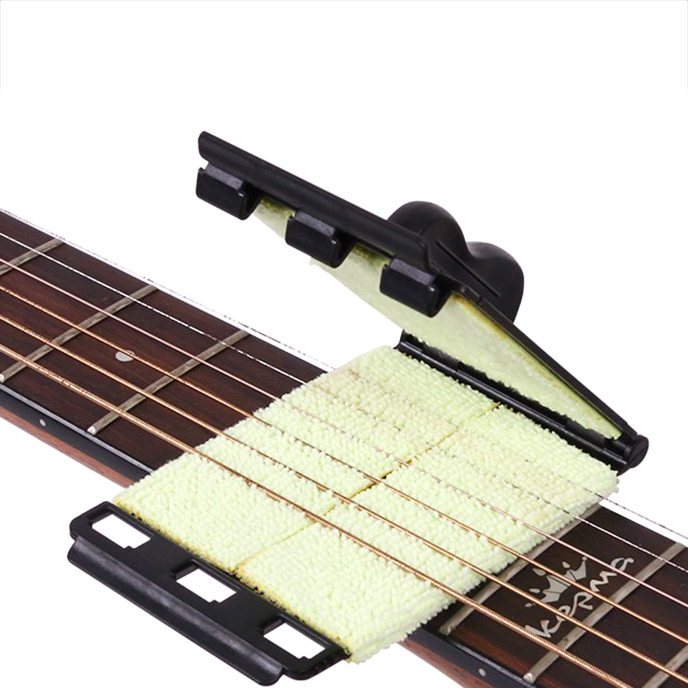 Guitar Strings Cleaner Brush Acoustic Electric Board Bass Scrubber Fingerboard Rub Cleaning Tool Maintenance Care Accessories