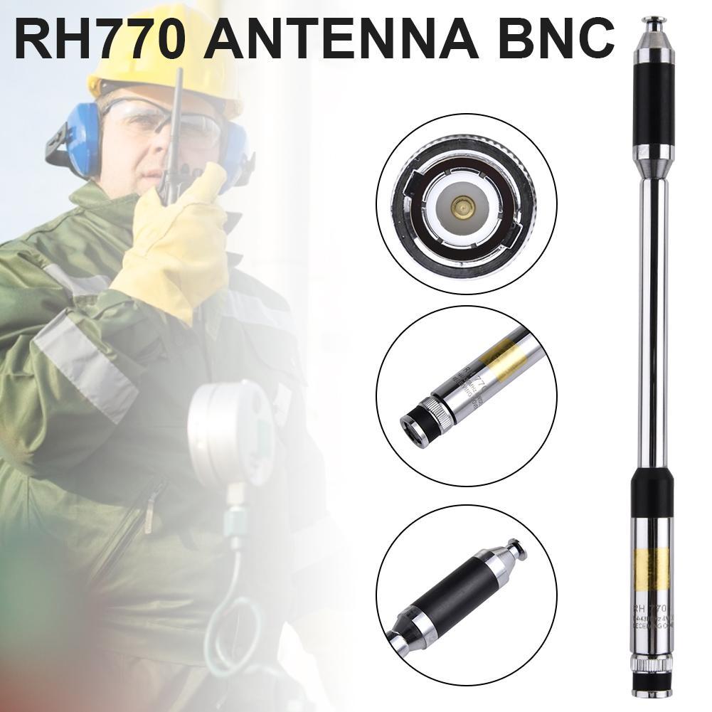 RH770 Antenna BNC Walkie-talkie Antenna 144/430Mhz 3.0/5.5dBi 20W Telescopic Antenna HT/Scanner