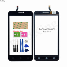 Touch Screen For Texet TM-4672 X-navi Touch Screen Digitizer Touch Panel Lens Sensor TouchScreen 5'' Mobile 3M Glue Tools Wipes