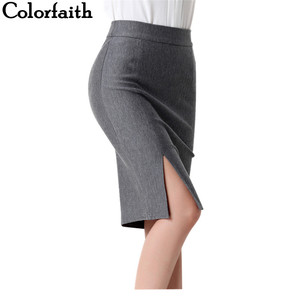 Image 1 - 2017 New Women Formal Work Wear Skirts Ladies Sexy High Waist Mini Pencil Skirt 7 Colors Stretch Package Hip SP5602